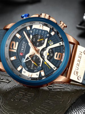 CURREN Blue Chronograph Men Watches