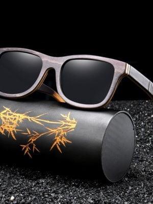 GM Luxury Skateboard Wood Sunglasses Vintage Black Frame Wooden Sunglasses Women Polarized Men's Bamboo Wood Sunglasses S5832 3